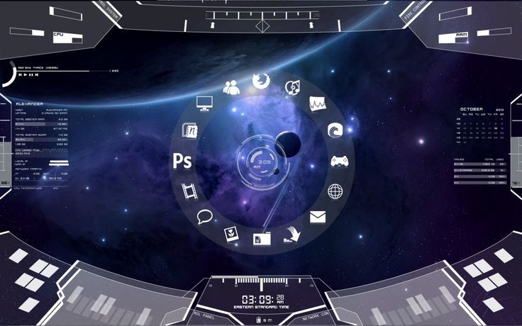Sci-Fi HUD Theme by ~tarnishedxblade on deviantART