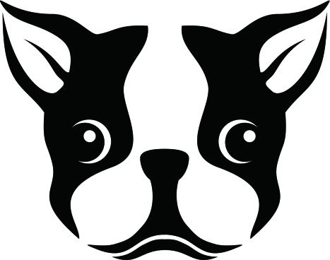 A Stencil Of A Boston Terrier Dog