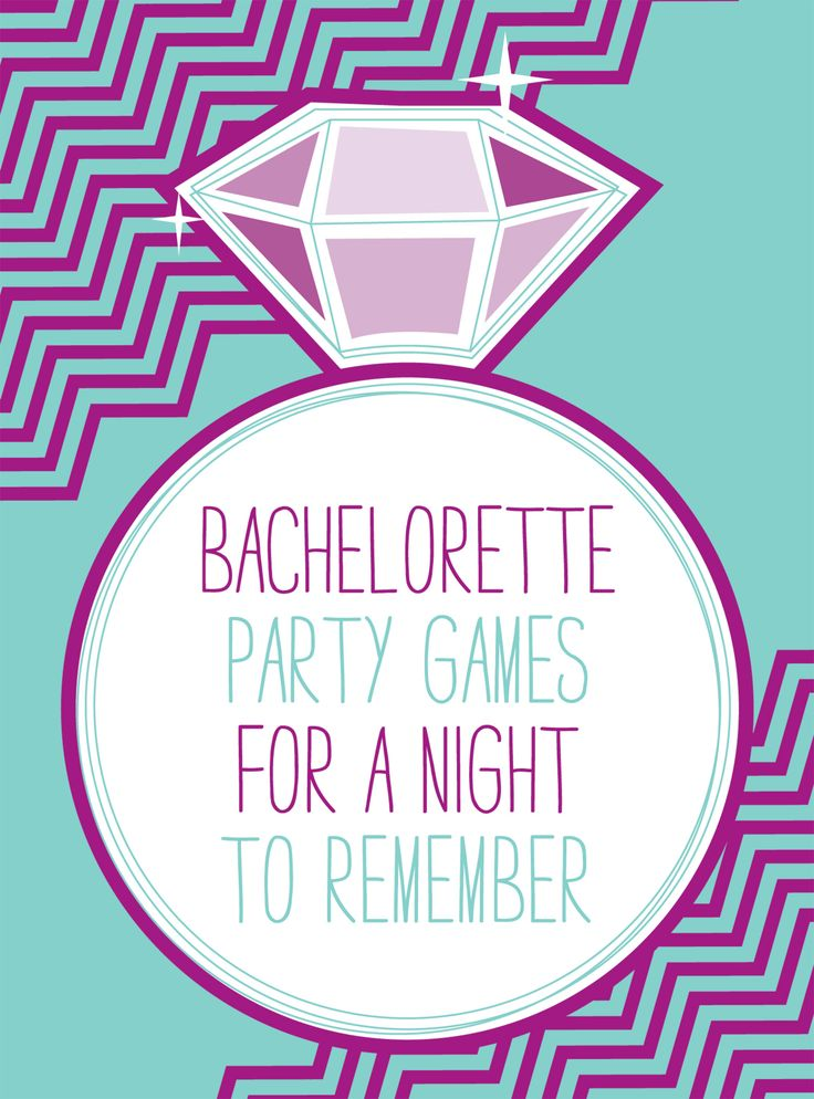 Bachelorette party games -- quiz the bride about the groom and have him answer in advance. Then have her win prizes for how many questions she gets correctly. Also, have the bride pick celebrity names for each member to wear on her back. Everyone has to figure out who they are by the end of the party.