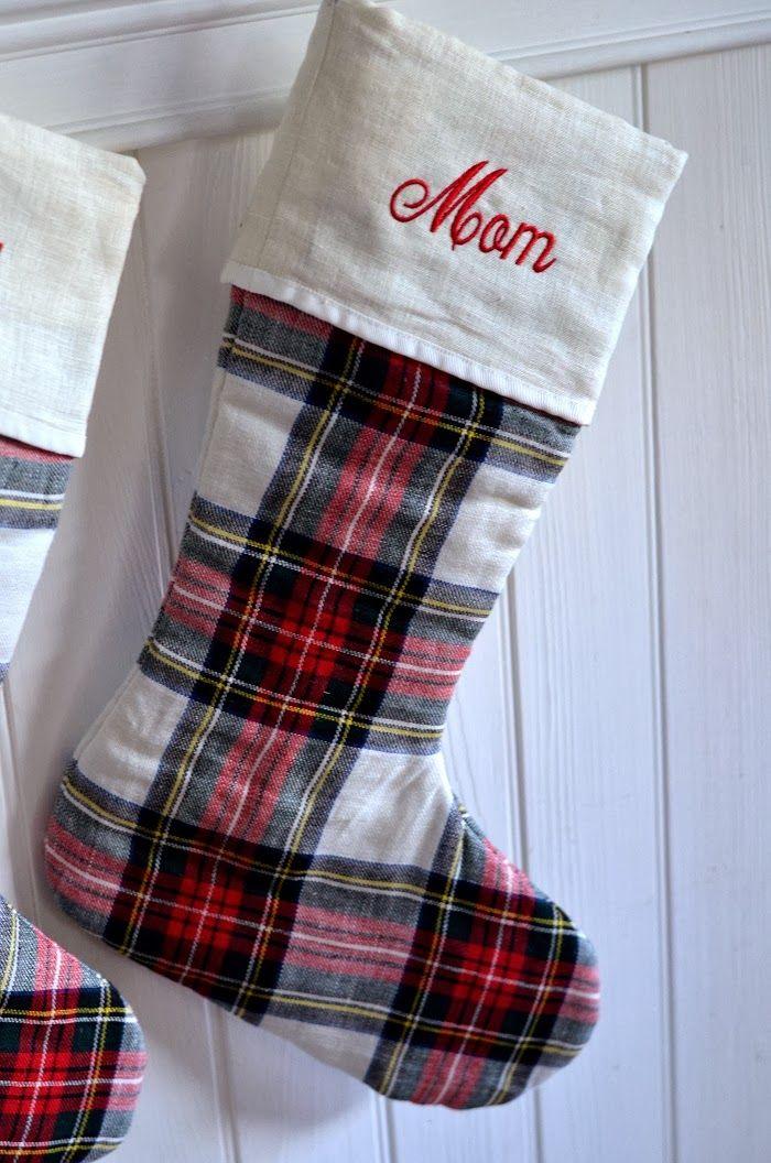 The 25+ best Plaid christmas stockings ideas on Pinterest
