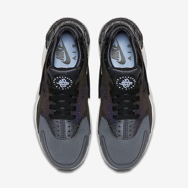 8a79457d3222a Chaussure Nike Air Huarache Pas Cher Femme et Homme Premium Gris Fonce Noir  Platine Pur Noir