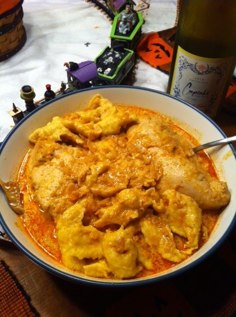 Crockpot Chicken Paprikash with Egg Drop Dumplings