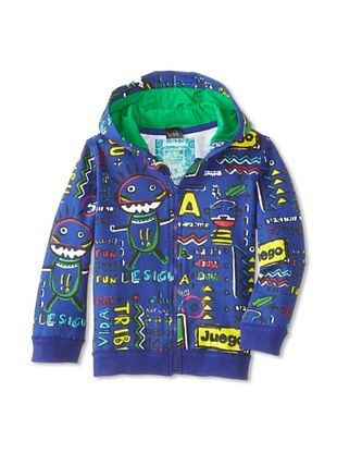 55% OFF Desigual Kid's Zip Hoodie (Blue)