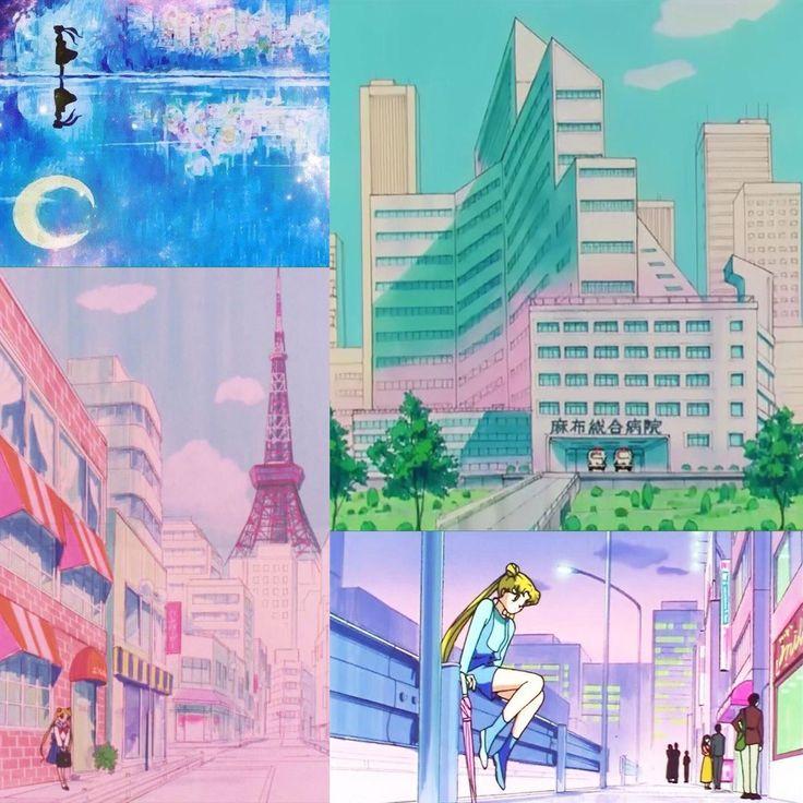 """""""当時のセーラームーンアニメの背景の可愛いさ美しさを見てください…"""""""