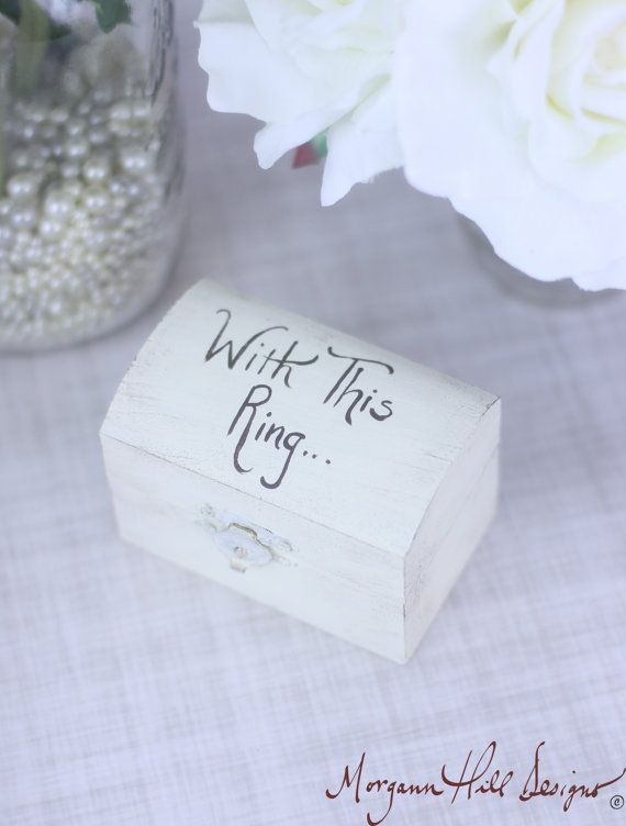 Shabby Chic Pillow Boxes : Ring Bearer Pillow Box Shabby Chic Wedding Decor by braggingbags, $22.50 Ring Pillows, etc ...