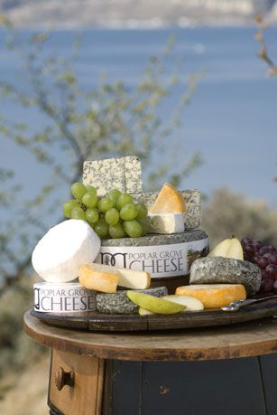 Platter of cheeses, Poplar Grove Cheese, Penticton