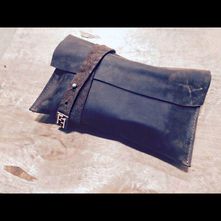 Clutch, handmade leather design