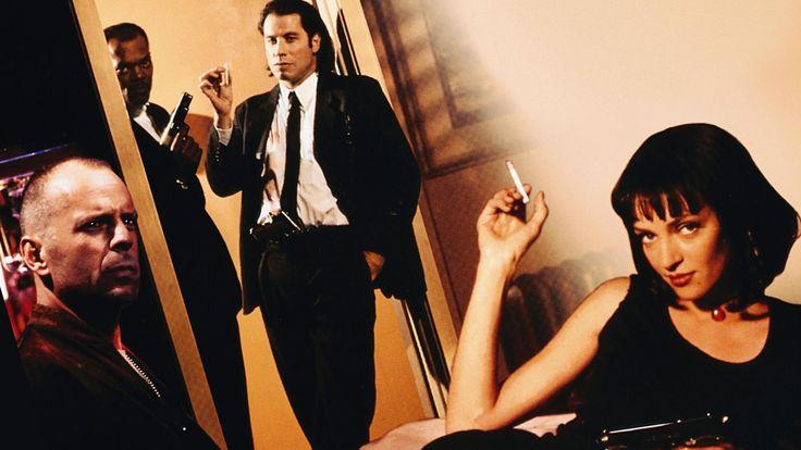 Quentin Tarantino pulp fiction contrapicado y diagonal