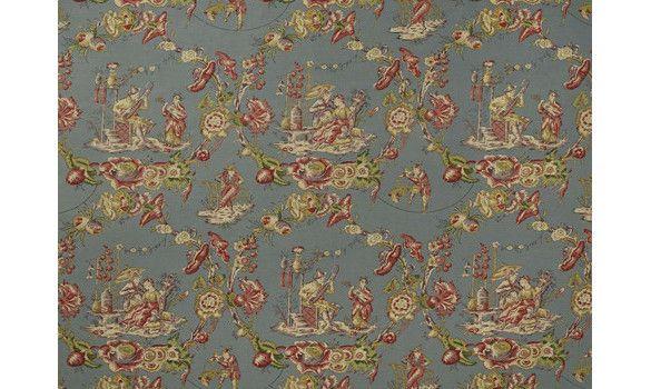 109 best images about toile de jouy inspiration on pinterest toile habitat - Rideaux toile de jouy ...