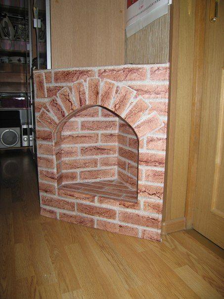 Ты можешь сделать камин из картона - Декор