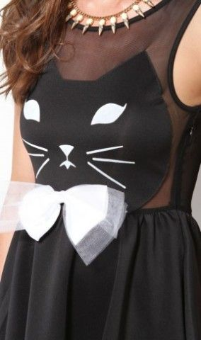 Reverse Kitty Face Dress