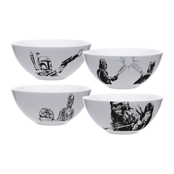 Star Wars 4-pc. Soup / Cereal Bowl Set by Zak Designs, Multicolor