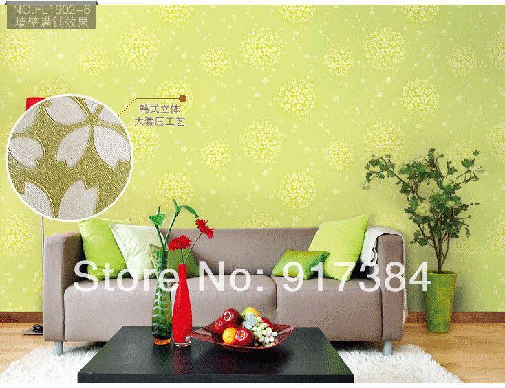 Гостиная Твердые ПВХ Тиснением Текстурированные Обои Rolls Украшения Дома Отпечатано L-3875