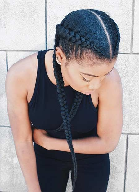 2 Cornrow Braids for Black Women