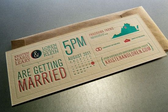 Kristen + Loren's Modern Diagram Letterpress Wedding