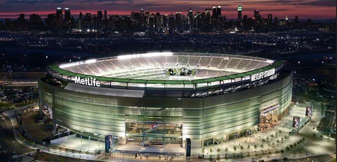 MetLife Stadium was Recognized by the Environmental Protection Agency as the Leading Venue in Carbon, Energy, Water and Solid Waste Reduction. The stadium is constantly reducing their carbon footprint by working with the EPA and assessing yearly reports that will help improve the stadiums green efforts. This article acknowledges the achievements the MetLife stadium has accomplished by stating the exact green products they used to build the stadium.