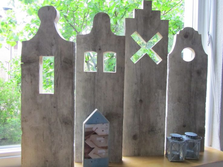 Hollandse huisjes raamluiken van steigerhout te koop bij Jet&Juul&Co.