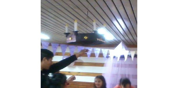 Piñata candelabro #fiesta #cumpleaños #festejo #decoración #ambientación #tematización