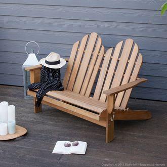 Canapé de jardin 2 places adirondack RIVERHAUK House Bay port offert