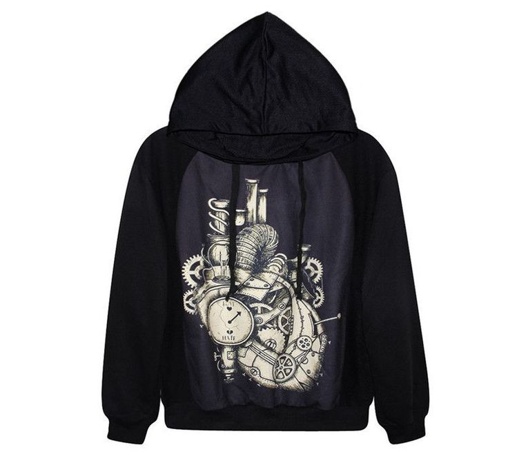 Autumn&Winter Women/Men Hoodies 3d Printed Watch and Heart Fashion Clothing Casual Full Sleeve Tops