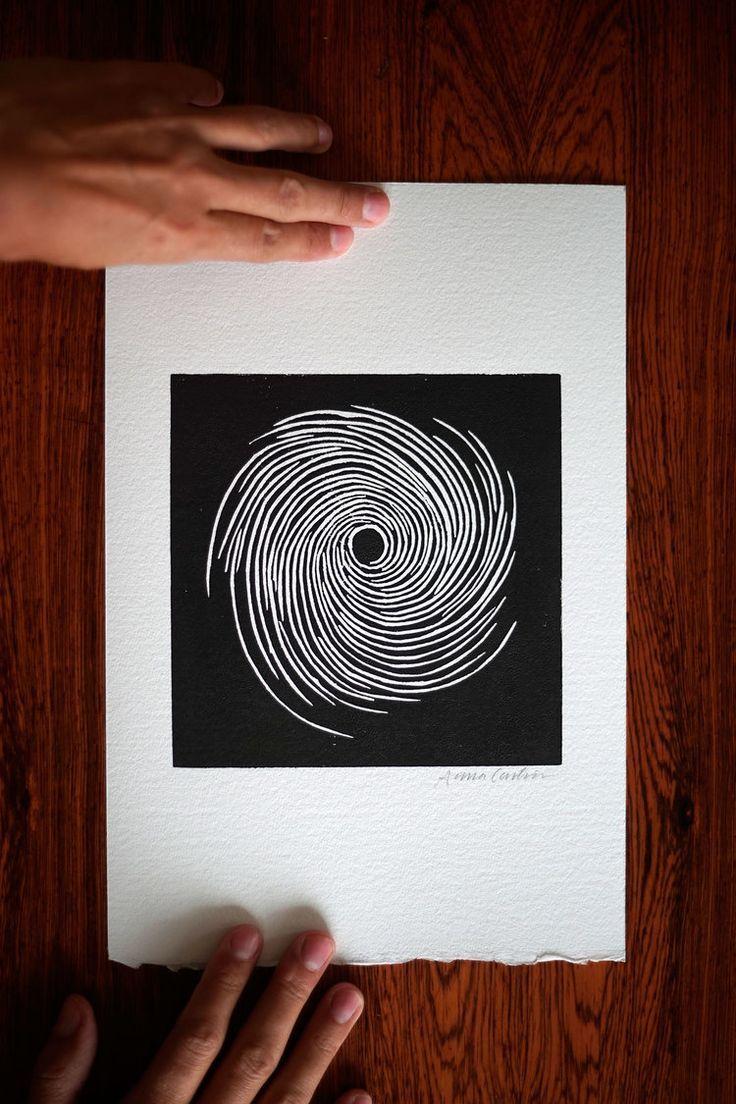Vortex in 2019 | Linocut ideas | Linocut prints, Printmaking
