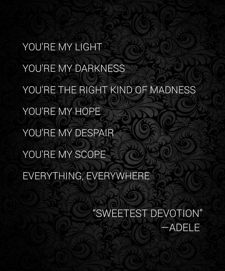 Sweetest Devotion by Adele  #adelelyrics