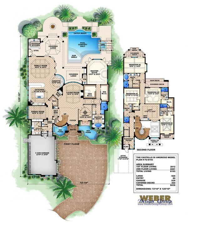 Mediterranean Luxury Floor Plans: 17 Best Images About Dream House Plans Luxury On Pinterest