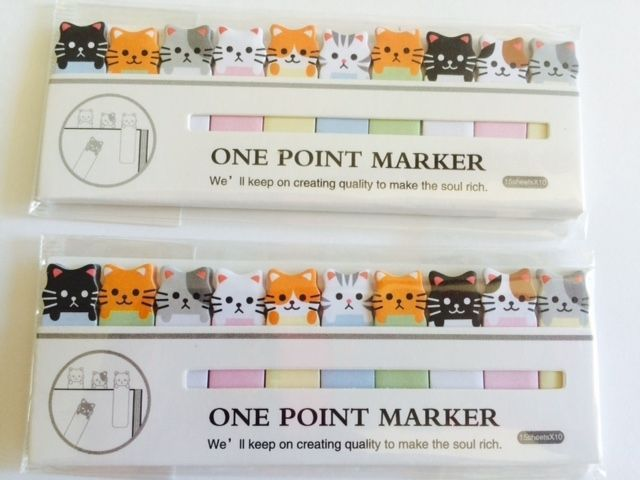 CUTE KITTEN CAT PAPER STICKY NOTE BOOK MARKER PAD HELPS FERAL CAT RESCUE DONATE