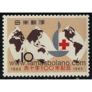 SELLOS DE JAPON 1963 - CENTENARIO DE LA CRUZ ROJA INTERNACIONAL - 1 VALOR - CORREO