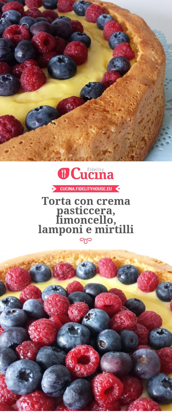 #Torta con crema pasticcera, #limoncello, #lamponi e #mirtilli della nostra utente Giada. Unisciti alla nostra Community ed invia le tue ricette!