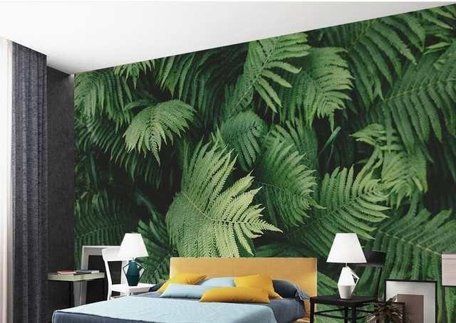 Online Shop Benutzerdefinierte 3d Wandbilder Wallpaper Fur Wohnzimmer Grun Tropische Pflanze Blatter 3d Tapeten Fur Wa In 2020 Grune Wohnzimmer 3d Tapete Zimmer Tapete