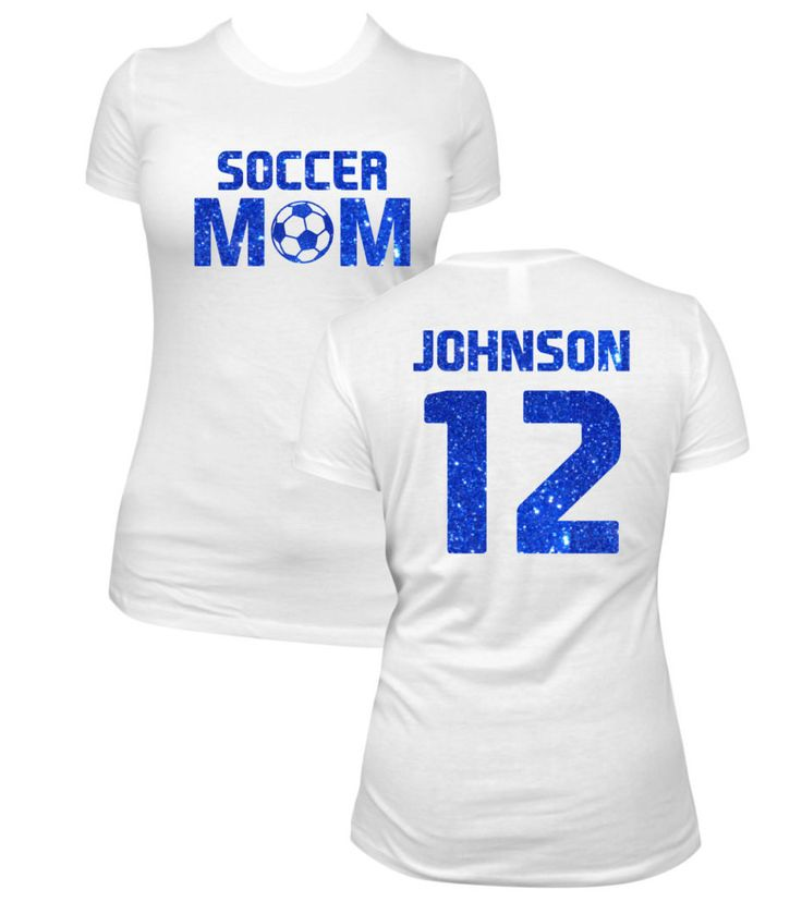 Personalized Soccer Mom Shirt - You Choose Color!