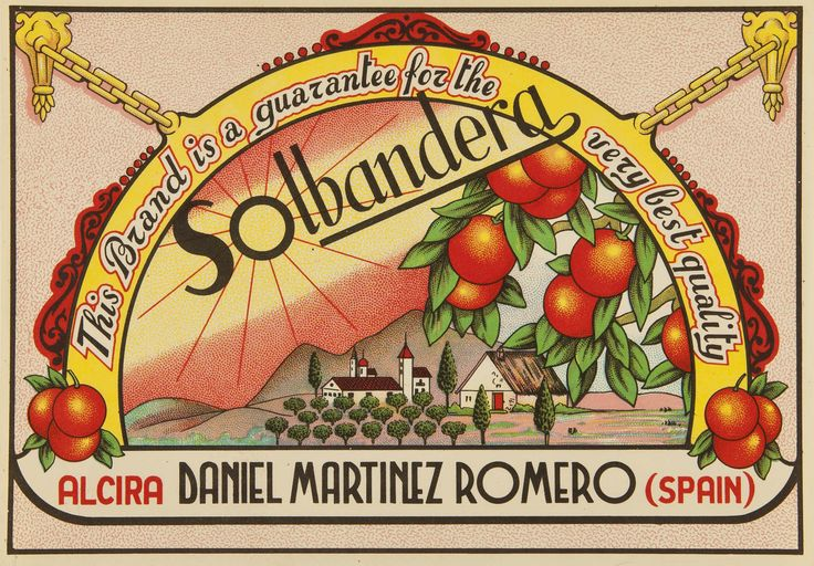 Solbandera : This brand is a guarantee for the very best quality : Daniel Martínez Romero Alcira. Entre 1950 y 1975