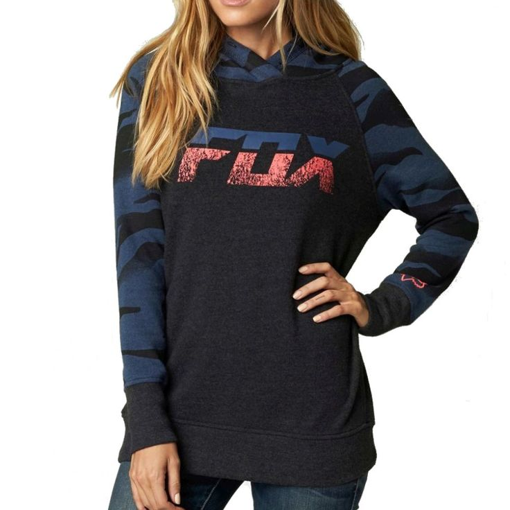 Fox Racing Vicious Women's Ladies Fall Casual Pullover Sweatshirt Hoodie