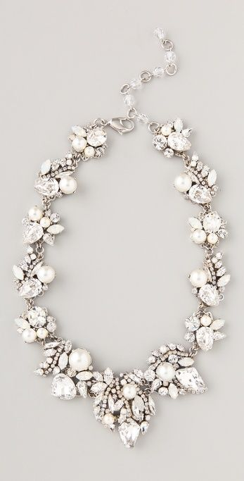 Erickson Beamon White Wedding Necklace..  only $973!! HA HA...  too bad its sold out or it'd be mine, lol.