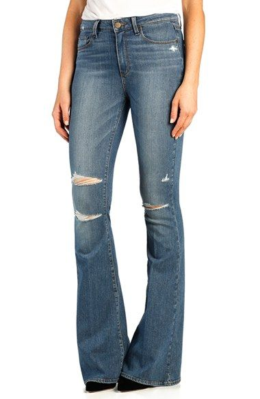 Paige Denim 'Bell Canyon' High Rise Flare Jeans (Brady Destructed) (Petite) available at #Nordstrom