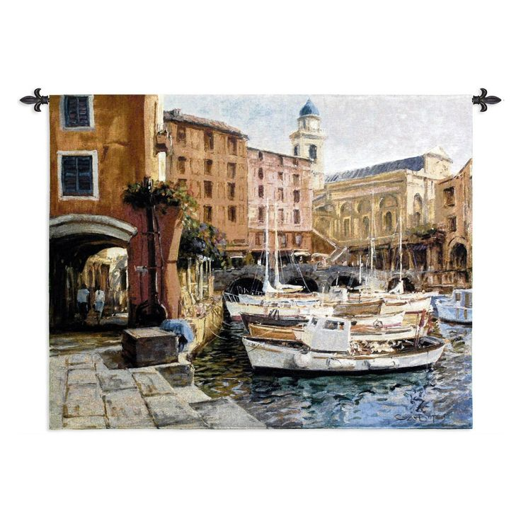 Fine Art Tapestries Mediterranean Colors Wall Tapestry - 1507-WH