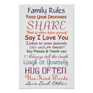 Familie Regels T-shirts, Familie Regels cadeaus, kunst, posters en ...