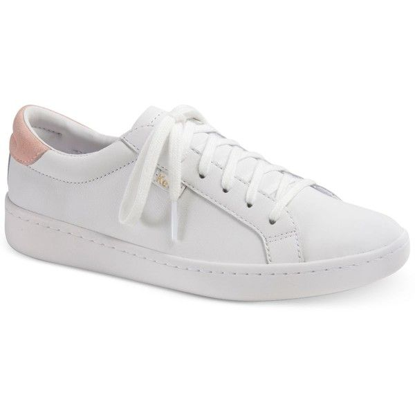 Keds Women's Ace Sneakers (£54) ❤ liked on Polyvore featuring shoes, sneakers, white, metallic shoes, white sneakers, keds shoes, white shoes and keds