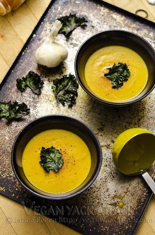 A smoky, creamy bisque that is low on fat, high on protein and filled with pumpkin!