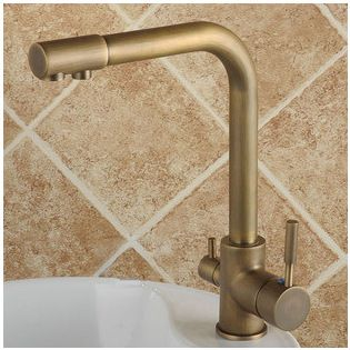 With the grey/blue cabinets colour scheme – Hot & Cold Water & filter Water Purifier Mixer Tap TP3301A - http://www.uktaps.co.uk/kitchen-taps-c-23.html