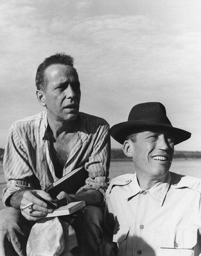 """The African Queen"" Humphrey Bogart, director John Huston 1951 Romulus Films ~Repinned Via Linda Sherrin"