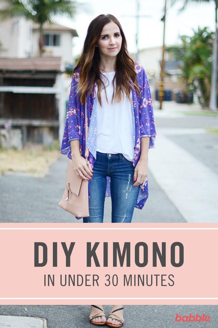 Under 30 minutes Kimono diy idea how to make tutorial sew