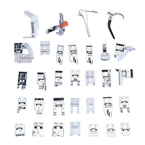 Presser feet are an essential sewing machine tool, but there are so many! This is a guide to understanding some of the most common presser feet.