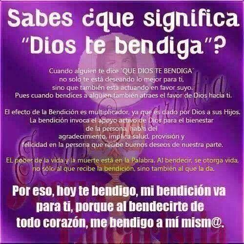 La bendicion de Dios significa el mayor de los privilegios que se le puede otorgar a un hijo ser bendecido por Dios.