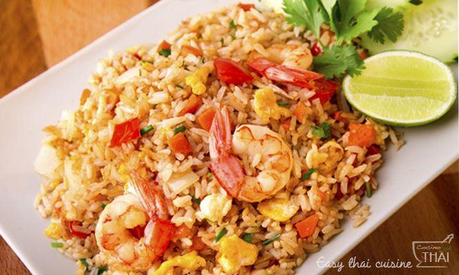 Receta de Arroz frito con camarones estilo Thai - Recetas de Allrecipes
