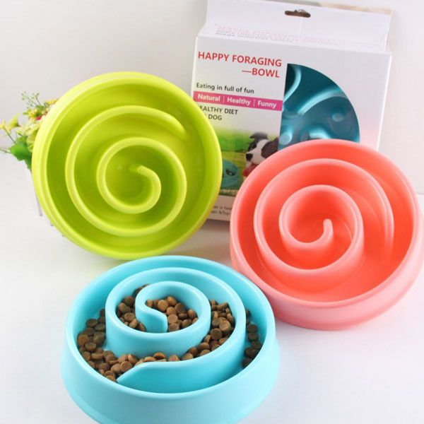 2016 Pet Dog Anti-Choke Feeder Slow Down Eating Feeder Dish Home Feeding Bowl Pet Puppy Preventing Choking Bowls for Pet Dogs