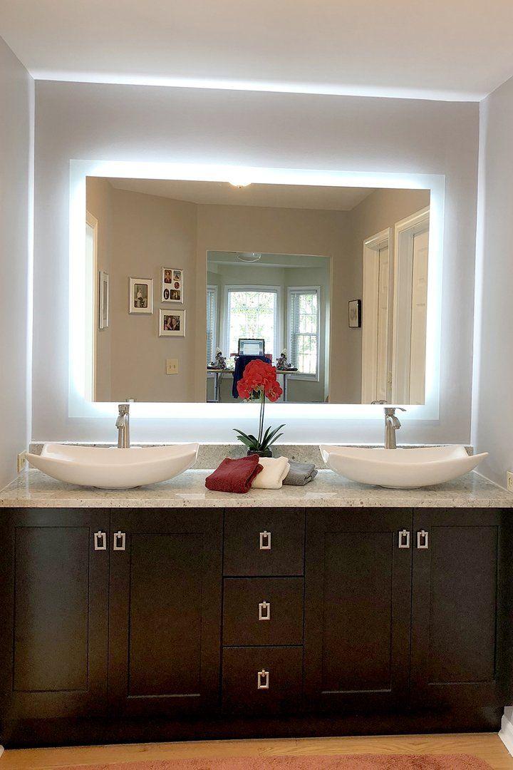 Side Lighted Led Bathroom Vanity Mirror 48 Bathroom Vanity Mirror Diy Bathroom Vanity Bathroom Decor