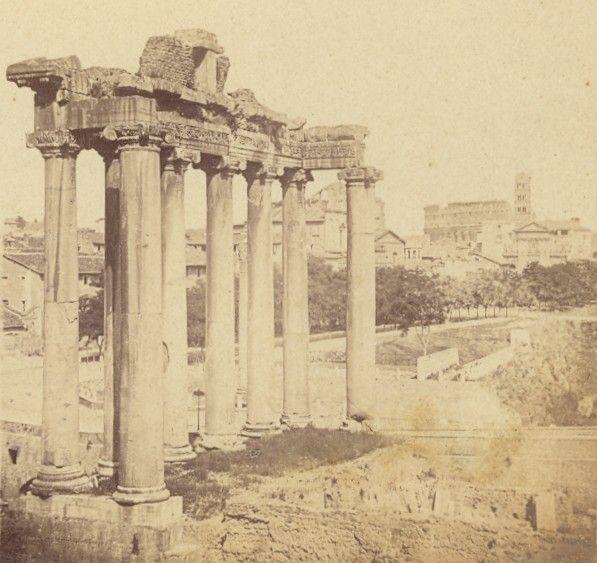 Foro Romano Roma Italy old stereo Photo 1870