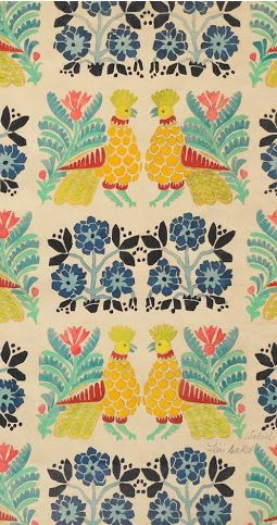 Pattern design by Leon Bakst, ca 1922.
